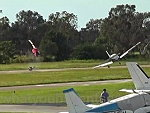 Helicopter And Airplane Collide On The Runway Oops