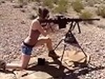 Hot Girl Handling A Huge Weapon
