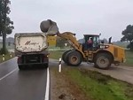 How Not To Load A Huge Boulder Onto A Truck