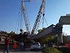 Huge Crane Goes Over Whilst Building A Bridge