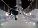 Ice Skater Breaks His Tailbone With A Big Hard Stack