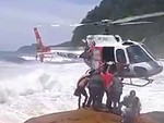 Incredible Helicopter Rescue Of An Injured Guy