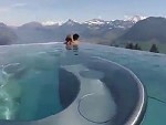 Incredible Infinity Pool In The Swiss Mountains
