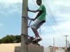 Ingenious Way To Easily Climb A Pole