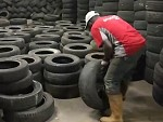 Its Their Job To Stack Tyres All Day