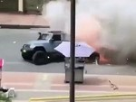 Jeep Blows The Fuck Up Driving On A City Street