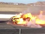 Jet Powered Dragster Flambés The Bejesus Out Of A Car