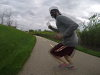 Jogger Changes Course Without Any Warning