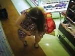 Just A Girl Caught On CCTV Testing Out Perfumes