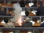 Kosovo Politician Drops Smoke Bombs In Parliament To Stop A Vote