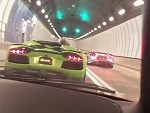 Lamborghinis Making Noise In A Tunnel And Its Beautiful