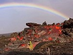 Lava Spills Out Beneath A Rainbow You Gotta Love Nature