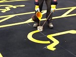 Line Marking Takes A Steady Hand
