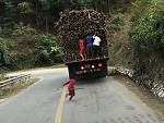 Little Dudes Robbing A Moving Sugar Cane Truck