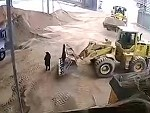 Loader Operator Simply Didn't See The Foreman Standing There