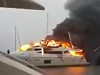 Luxury Motor Yacht Burns In The Harbour