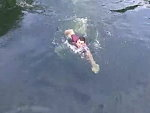 Makes A Desperate Dash Into The Lake To Save His Drone
