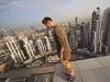Maniac Hoverboards Close To Death On The Edge Of A Skyscraper