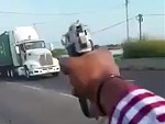 Maniac Opens Fire On A Passing Truck WTF