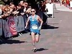 Marathon Runner Makes A Ballsy Finish