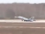 Mig Fighter Pilot Ejects During Take Off
