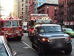 Moron Blocks NYC Fire Fighters Waiting To Pick Someone Up Wtf