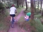 Mountain Bikers Encounter Something Hilarious