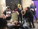 Nasty Skank Vomits To Stop A Fight