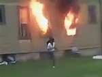 Neighbours Look On As House Is Torched By Crazy Bitch