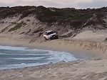 Noddy Rolls His 4wd On The Beach Near Lancelin