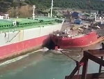 Old Cargo Ship Being Brought In To Be Scrapped