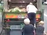 Old People Raiding A Rubbish Truck Because Cheap Groceries
