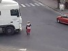 Old Woman Walks Into A Trucks Blindspot And Is Permanently Flattened