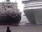 Out Of Control Cruise Liner Collides With Another Ship