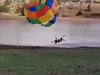 Parasailing Take Off Doesn't Go As Planned