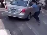 Passer-By Helps A Guy Save His Car But Doesn't