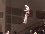 Pastor Floats Into Church On A Wire WTF