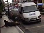 Pedestrians Forced To Jump For Their Lives As Van Ploughs Through