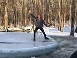 Pirate Destroys A Frozen Pool