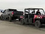 Polaris Easily Snatches A Pickup Out Of A Bog
