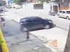 Police Car Avoids Killing 2 Kids Trying To Escape The Favelas