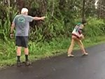 Psycho Pulls A Gun On His Neighbour Checking Out The Volcano Damage In Hawaii