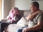 Pulls A Baby Prank On Dad