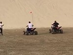 Quad Biker Gets Utterly Creamed On The Dunes