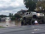Rednecks Use Their Lifted To Trucks To Rescue National Guard In Texas