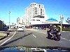 Rider Inexplicably Locks It Up And Caught On Dashcam