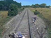 Rider Jumps For His Life After Getting Stuck On Train Tracks Somewhere In Australia