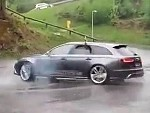 Ripping Skids In An Audi Is Just Too Much For It