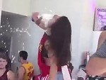 Room Full Of Guys Fall Instantly In Love With This Beer Chugging Goddess
