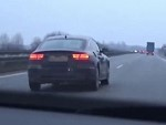 Running From The Cops On The Autobahn At 240kmh And Loses Control